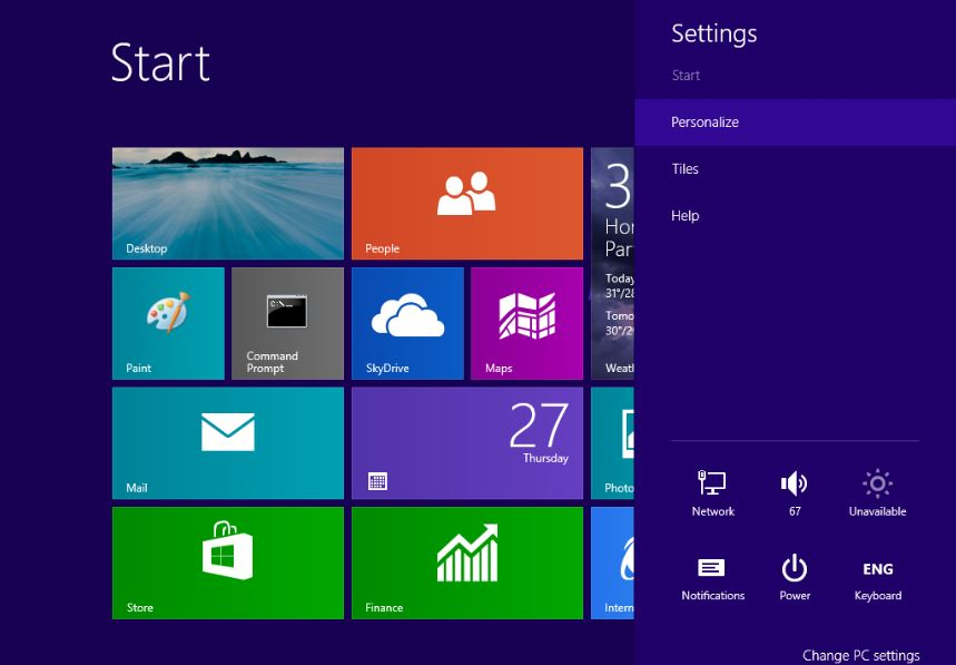 How to change start screen background in windows 81 859x597