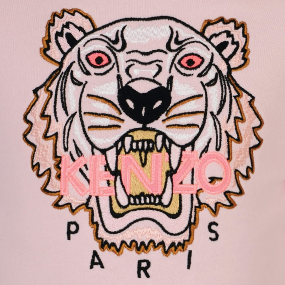 Kenzo Baby Girls Pale Pink Jumper With Pink Tiger   Kenzo Jumper 1000x1000