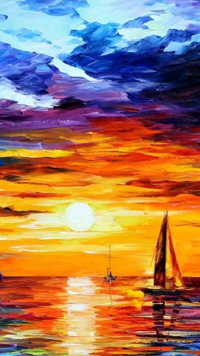 Dusk painting iPhone 5 wallpapers Top iPhone 5 Wallpaperscom 640x1136
