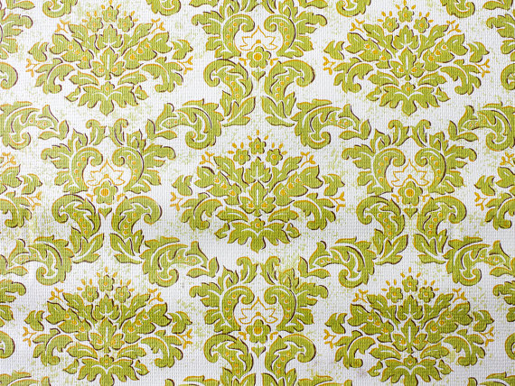 Retro Wallpaper   Vintage Green Orange and White Floral Pattern   The 570x428