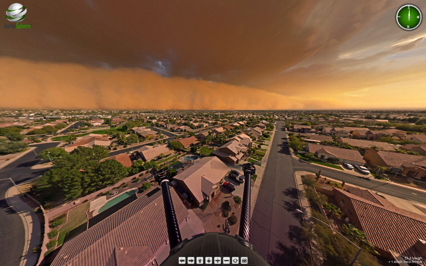 Amazing 360 degree look at a Haboob Dust Storm in PHX   Imgur 1680x1050