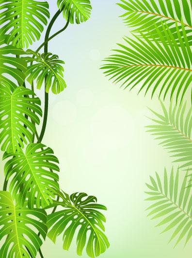 leaf elements vector background 04 download name tropical green leaf 396x531