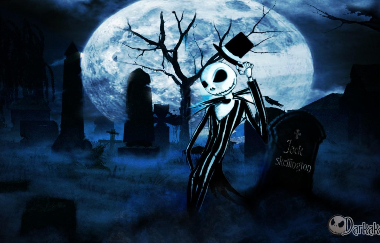 Wallpaper night fog cemetery the full moon grin headstone 1332x850