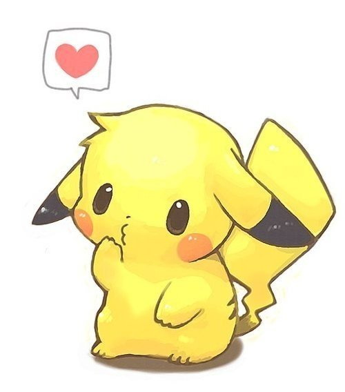 Cute pikachu hearts anime wallpaper chibi   on anime kida   http 500x568