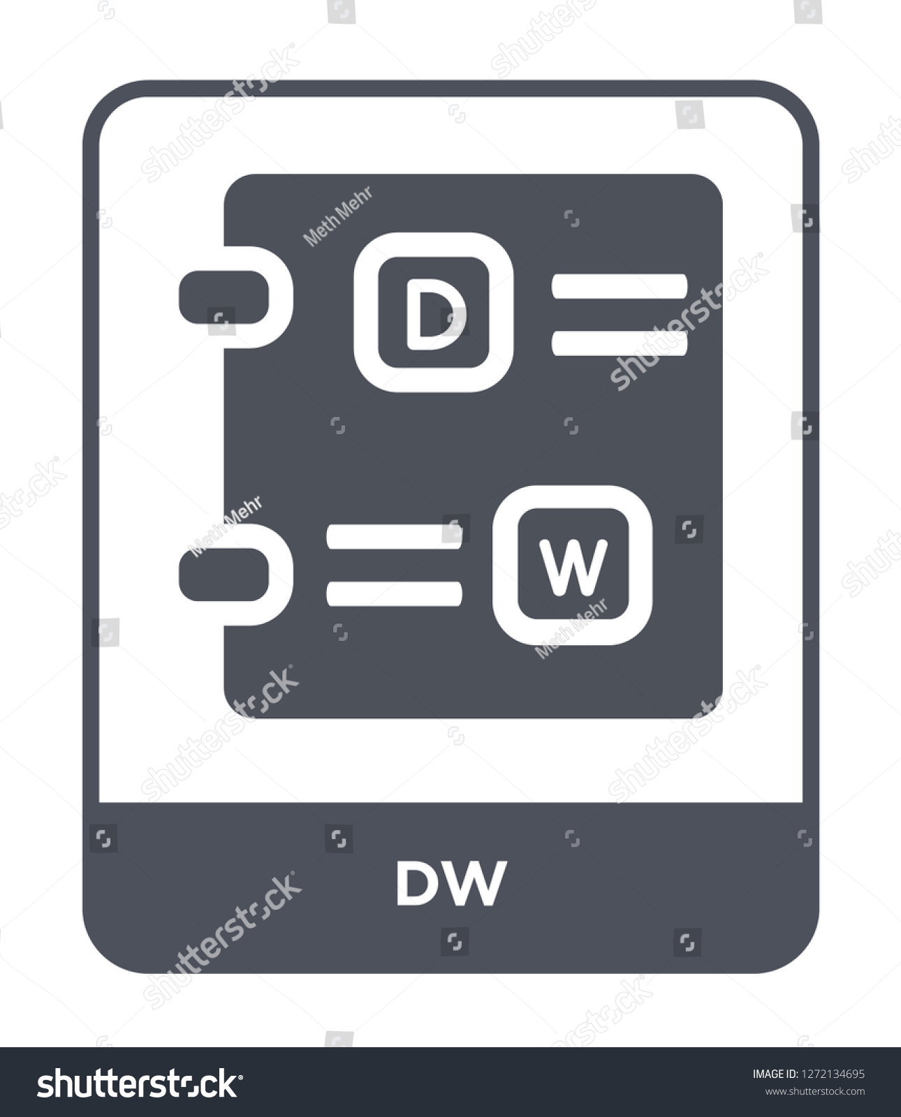 Dw Icon Vector On White Background Stock Vector Royalty 1290x1600