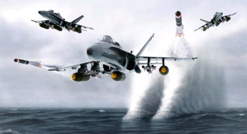 Hd F A 18 Hornet Of The Fighting Redcocks Vfa 22 Wallpaper Download 500x271