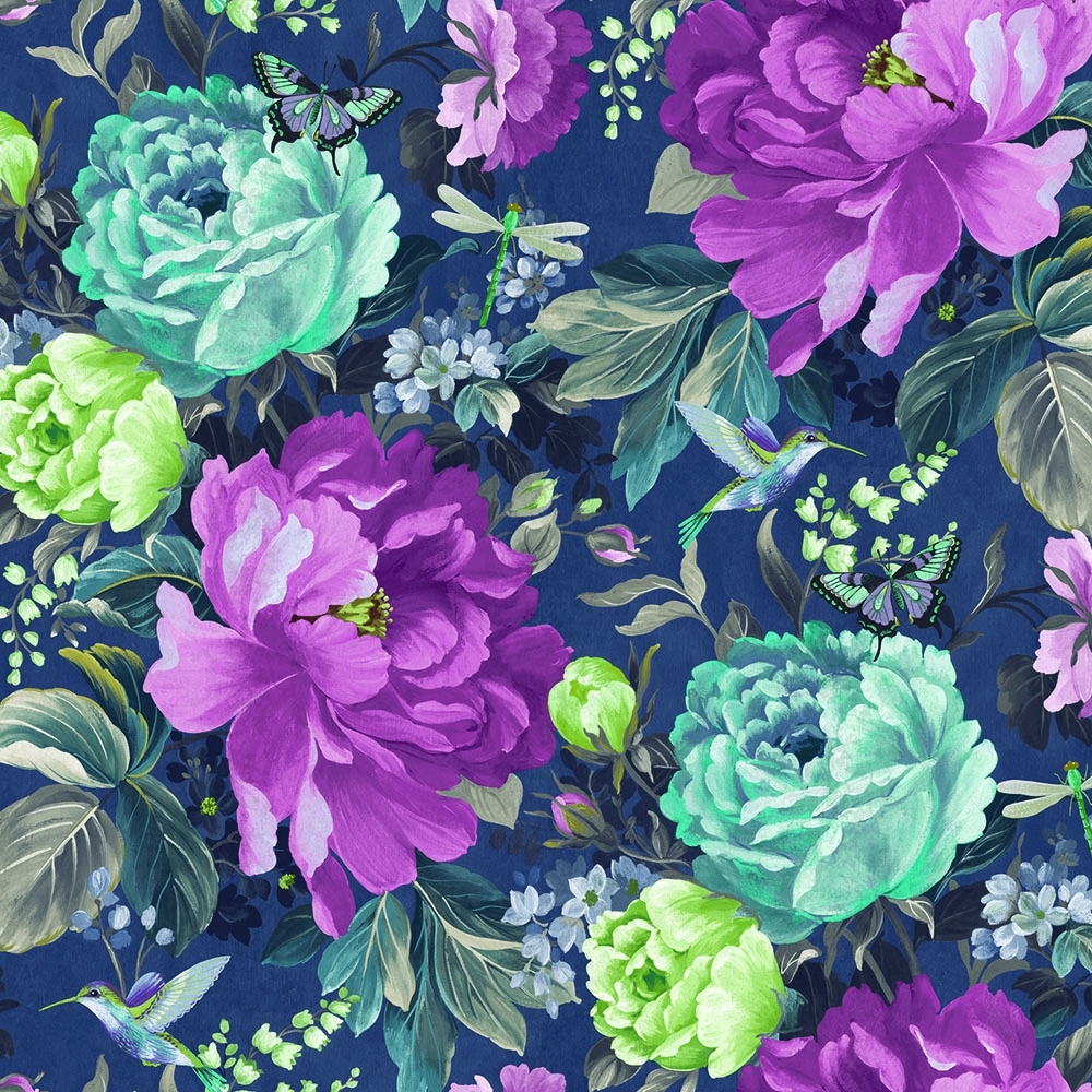 A Shade Wilder Dianthus Floral Wallpaper Loganberry 300110 1000x1000