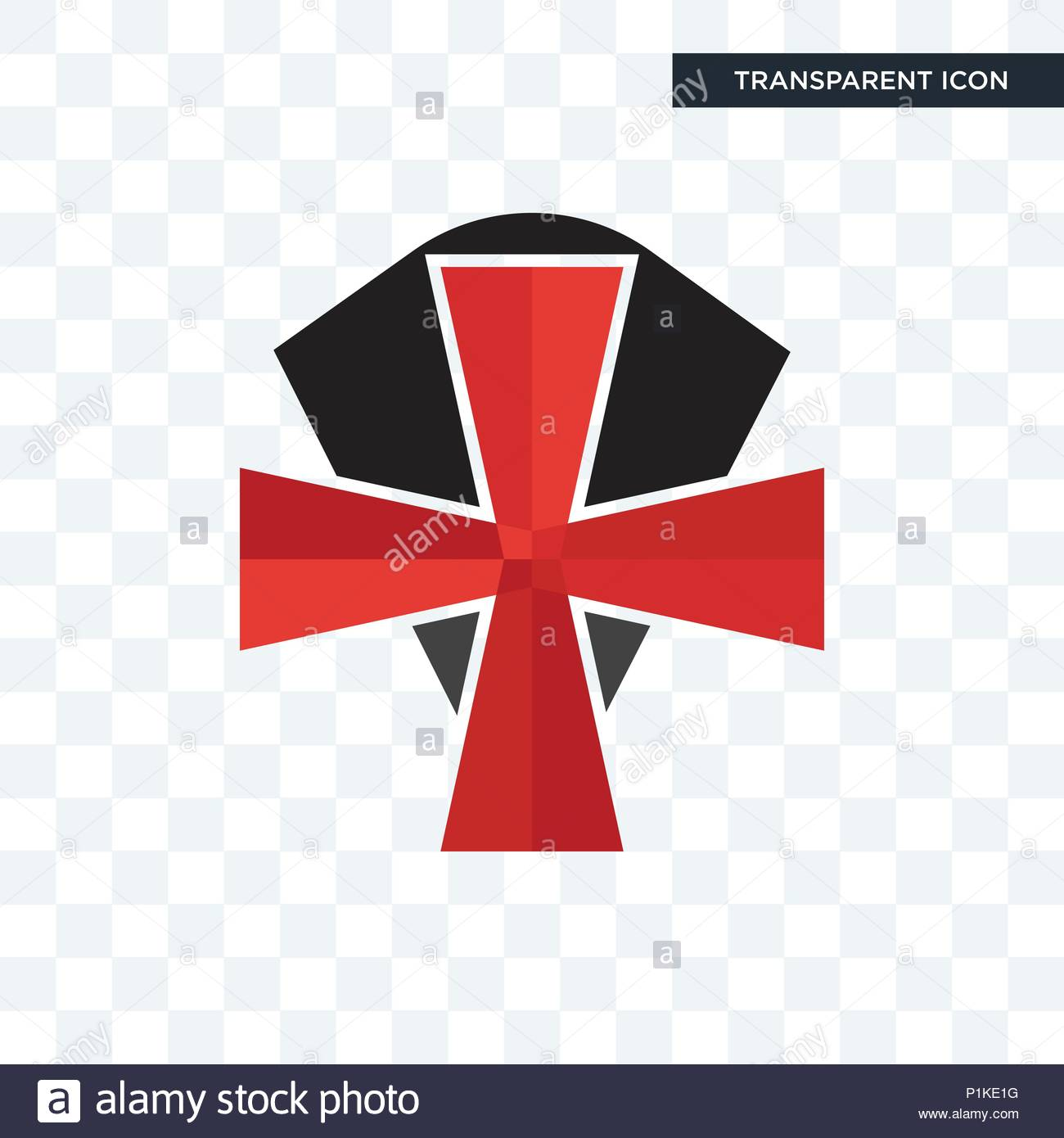 knights templar vector icon isolated on transparent background 1300x1390