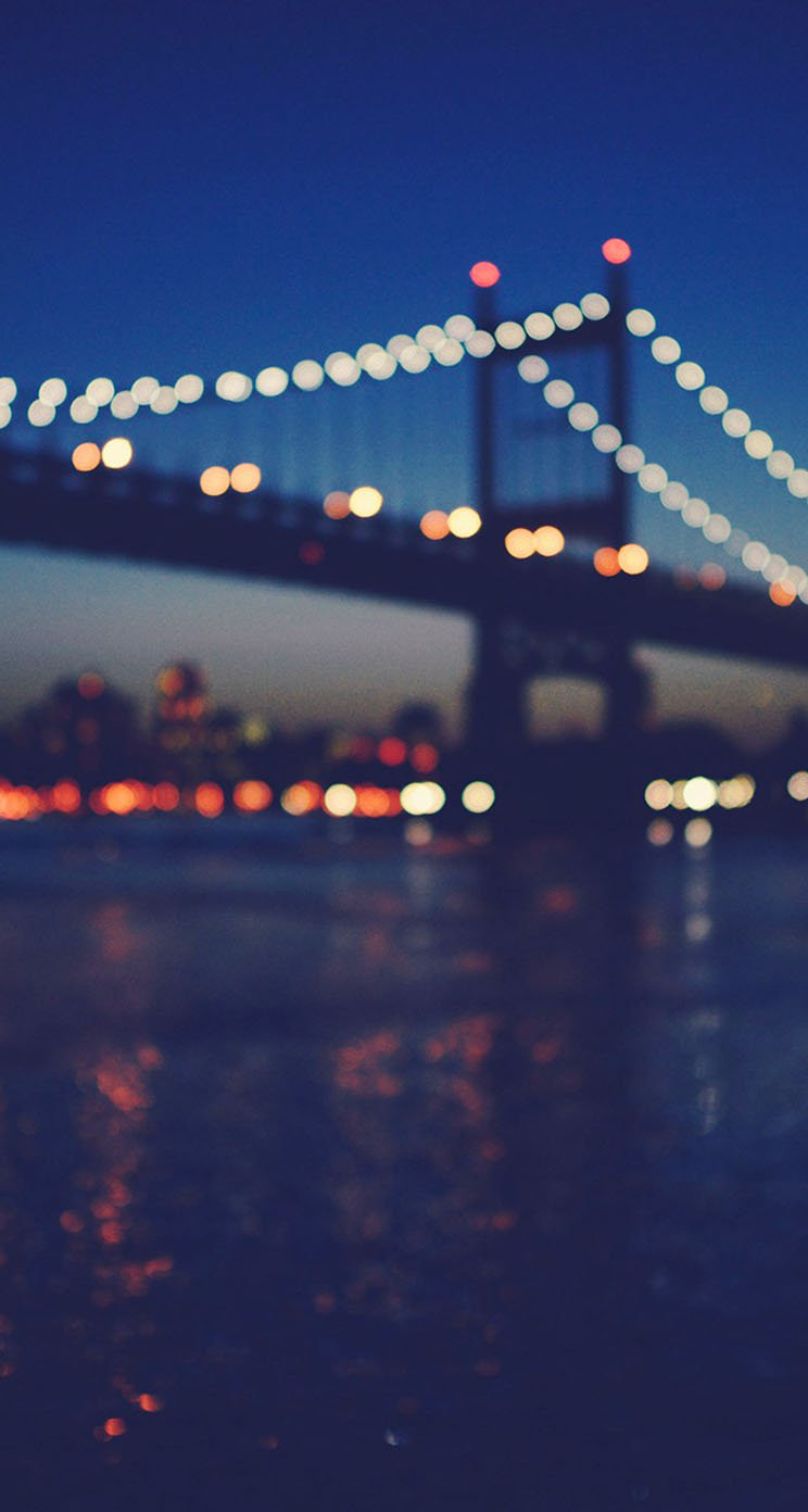 Free Download New York City Manhattan Bridge Night Light Bokeh Iphone Wallpaper 744x1392 For Your Desktop Mobile Tablet Explore 50 City Lights Iphone Wallpaper Northern Lights Iphone Wallpaper Dying