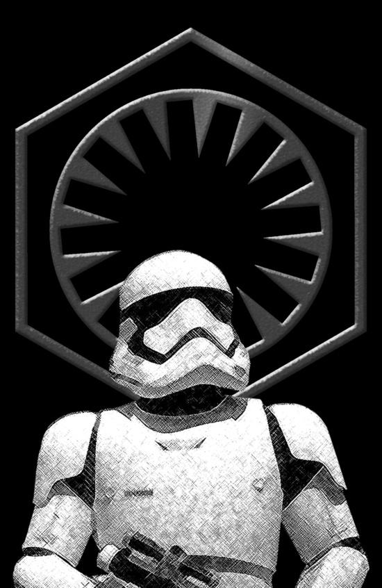 First Order Stormtrooper Art Print 550x846