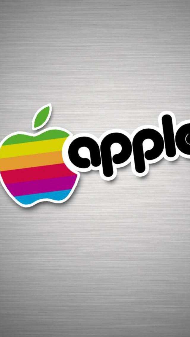 Old School Apple Logo Wallpaper for iPhone 5 640x1136
