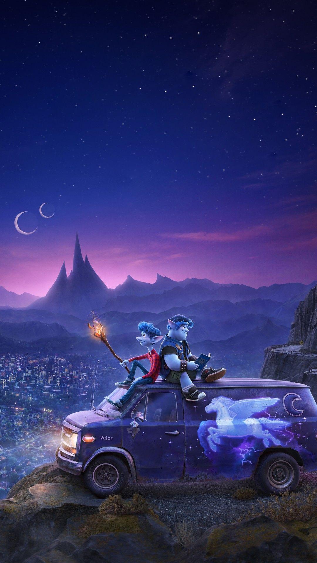 Onward 2020 mobile wallpaper Pixar movies Animated movies Pixar 1080x1920