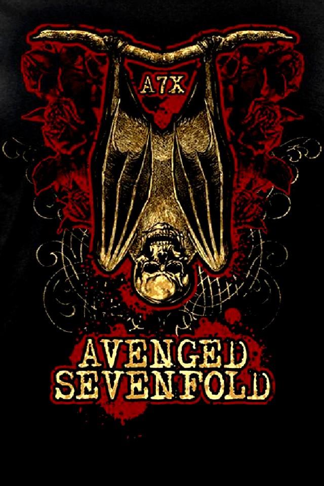 Avenged Sevenfold Logo Wallpaper 640x960