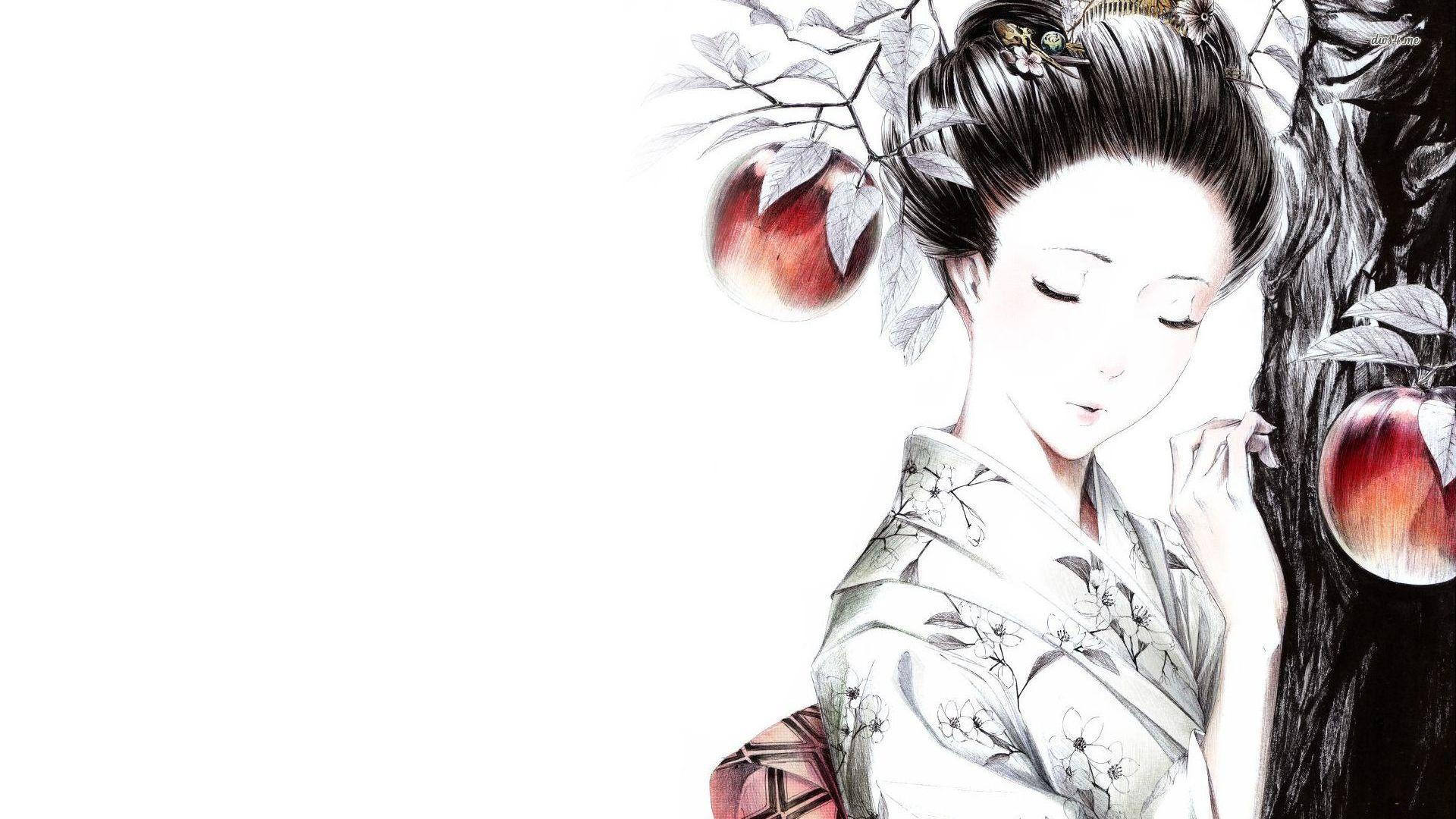 Geisha wallpaper   Artistic wallpapers   16853 1920x1080