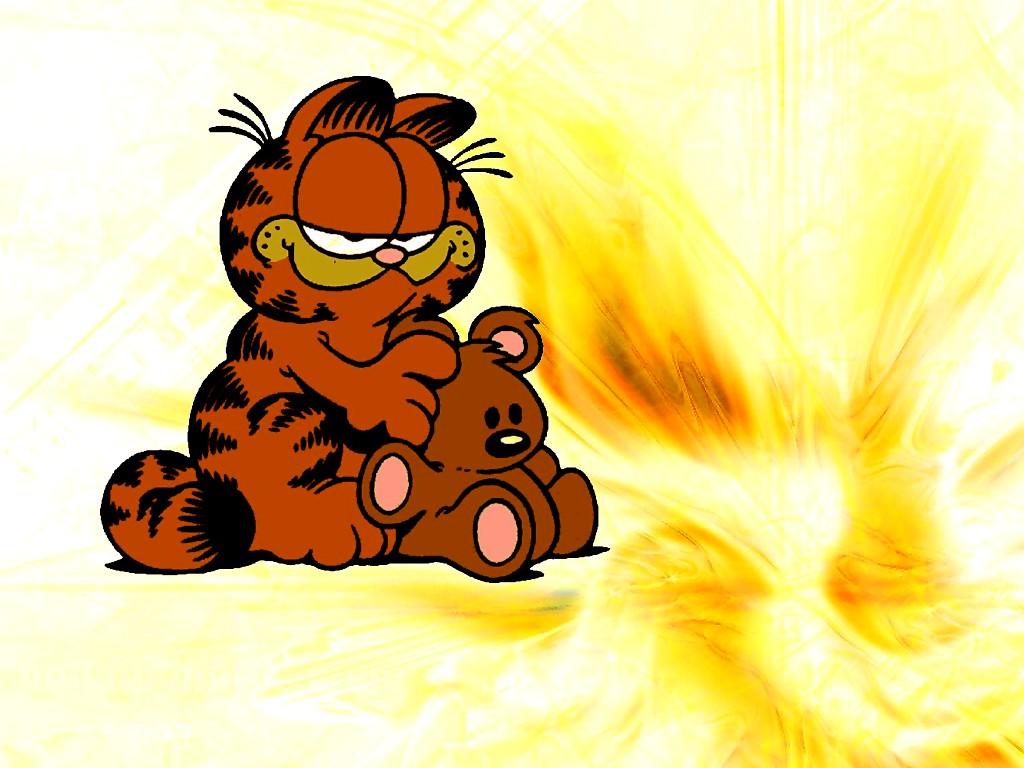 Wallpaper downloads XP wallpaper Garfield a domestic tiger 1024x768