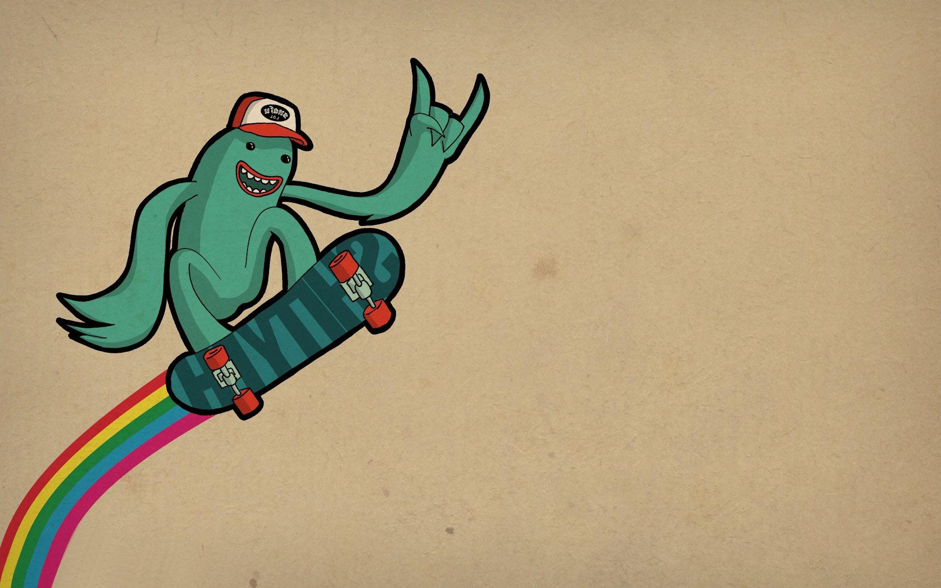 Skateboarding frog wallpaper 11857 1920x1200
