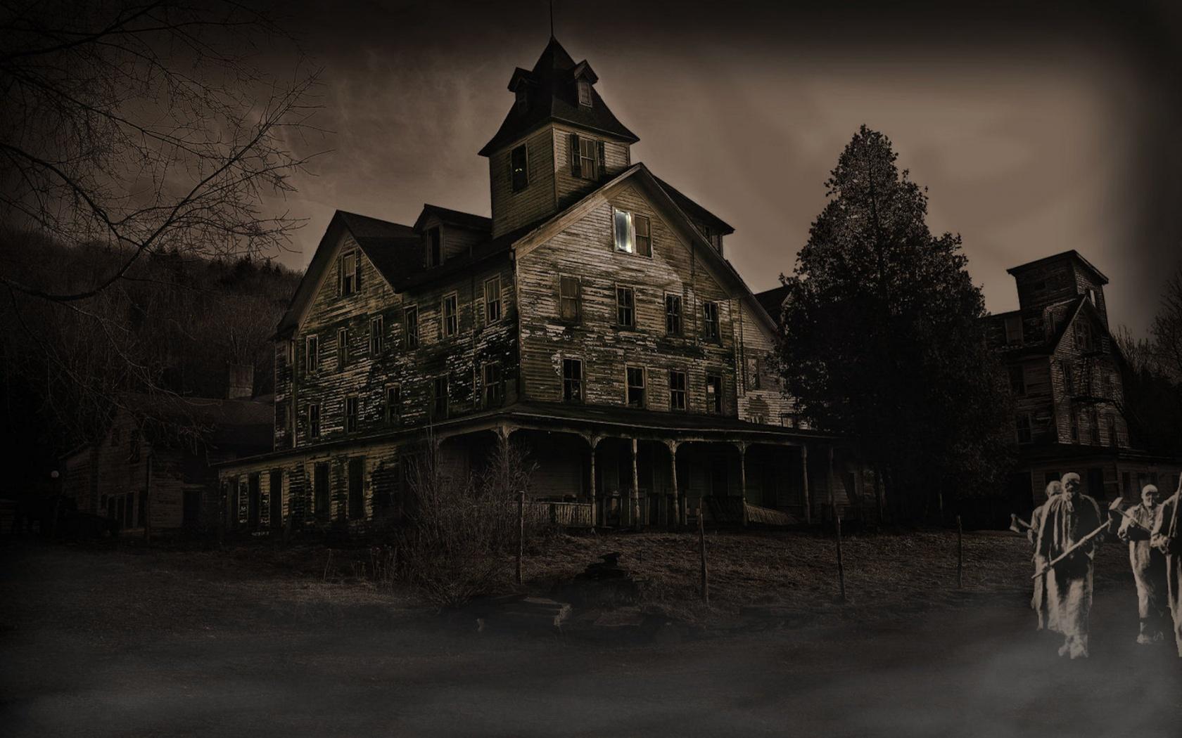 Haunted House Wallpaper   1680x1050 1680x1050