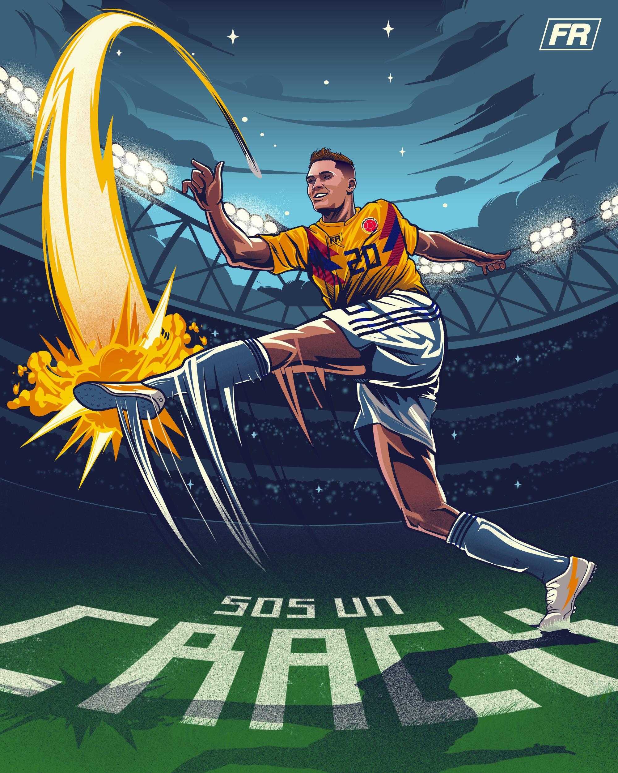Juan Fernando Quintero Ilustracin Illustration FIFA World Cup 2000x2500