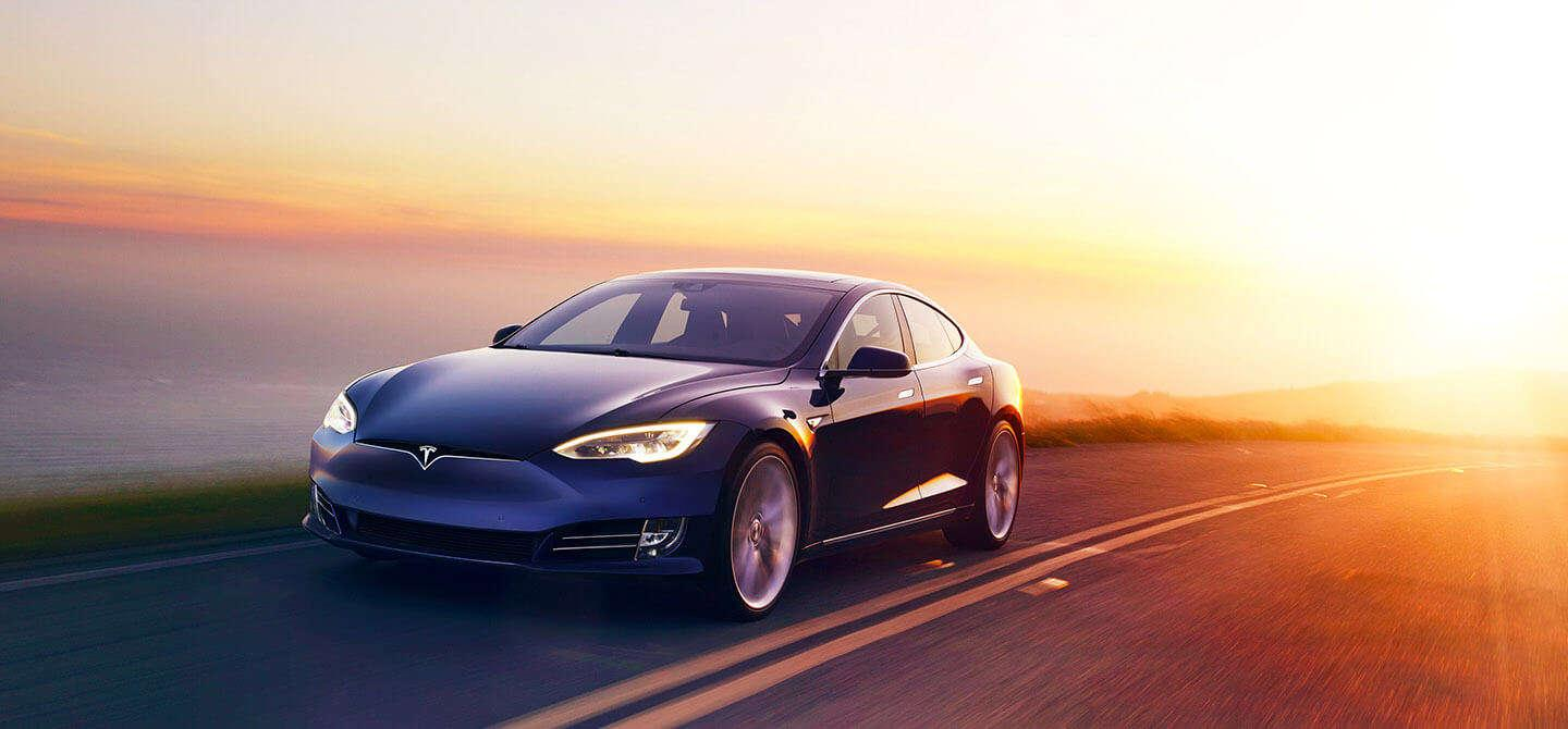 Blue Tesla Wallpapers 1440x670
