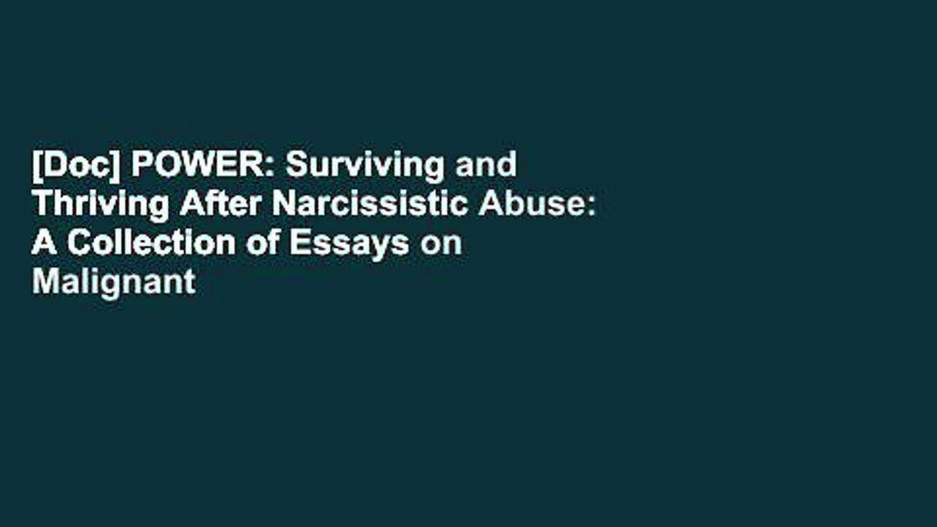 Doc] POWER Surviving and Thriving After Narcissistic Abuse A 1920x1080