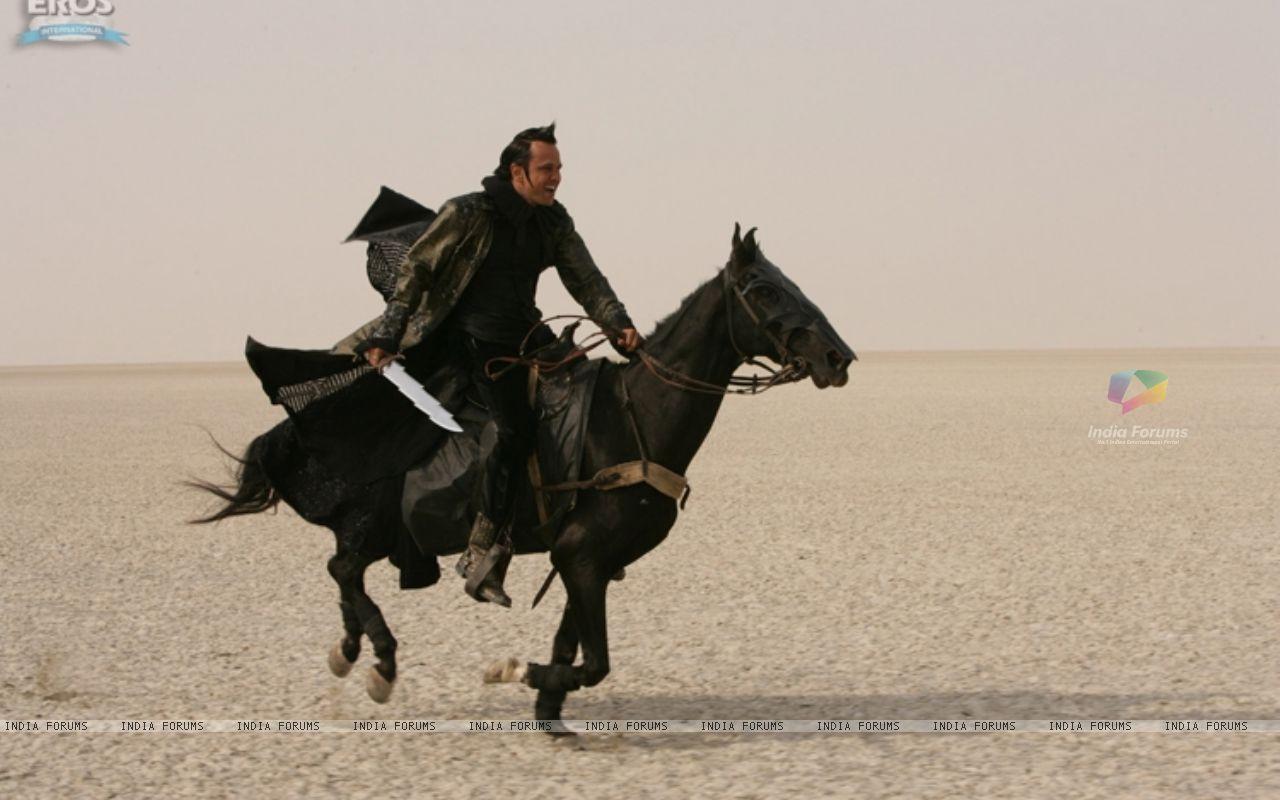Wallpaper   Kay Kay Menon sitting on a black horse 11332 size 1280x800