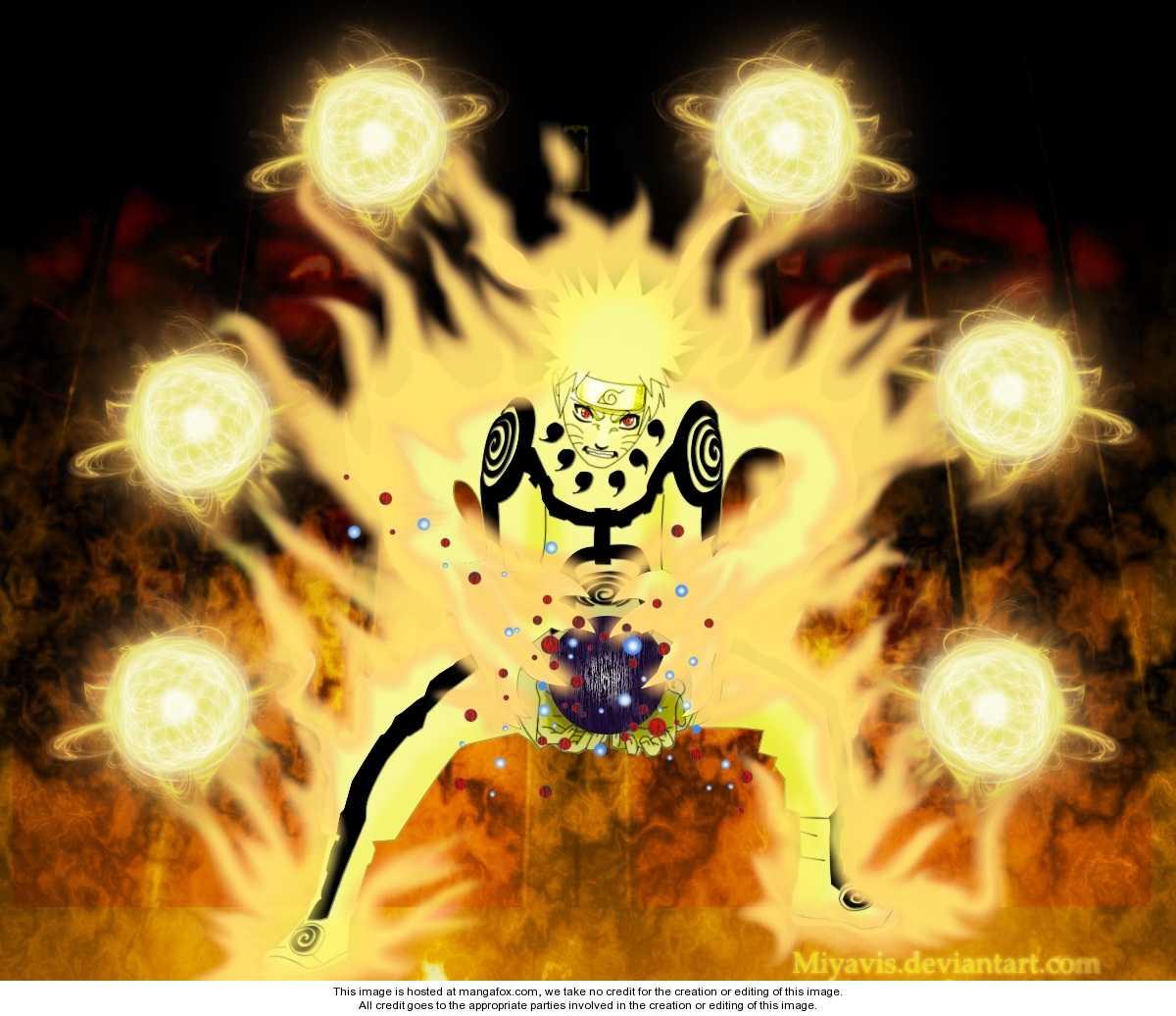 Naruto nine tails chakra mode   Uzumaki Naruto Shippuuden Photo 1200x1036