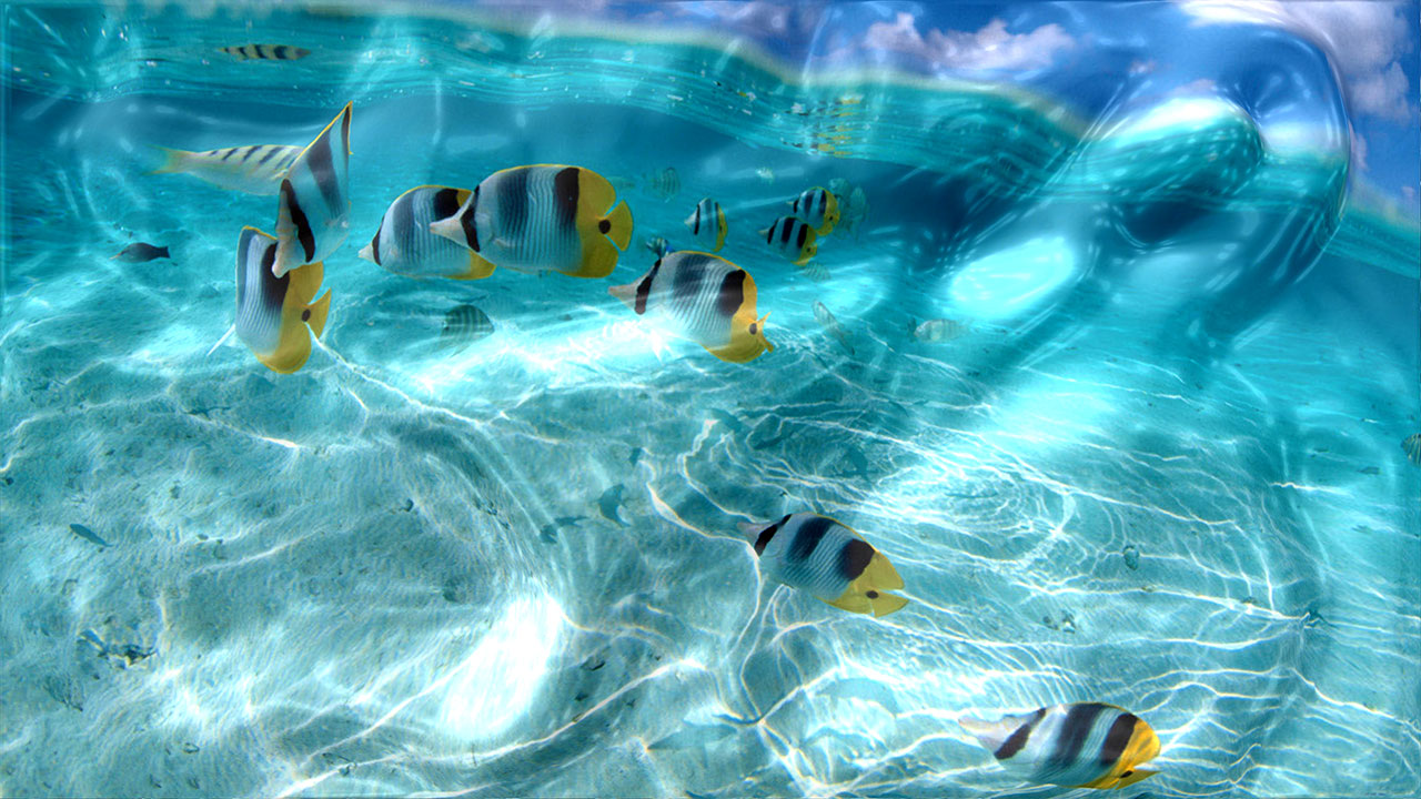 Watery Desktop 3D Screensaver 39993 screenshot 1280x720