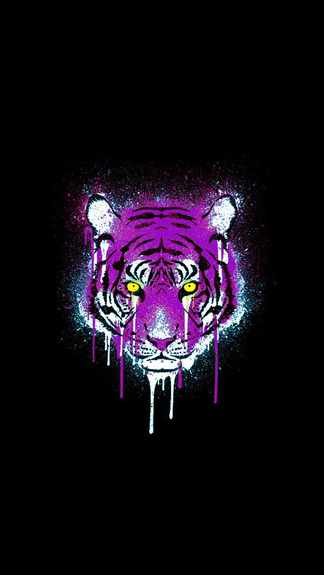 httphdphonewallpaperscomiphone5wallpaperpurple and gold tiger 640x1136