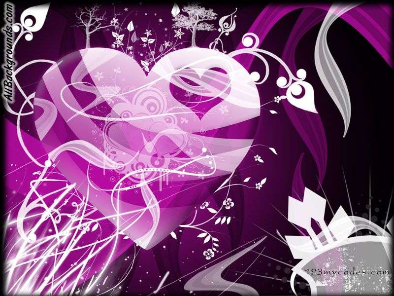 Flashing Purple Hearts Backgrounds   Twitter Myspace Backgrounds 800x600