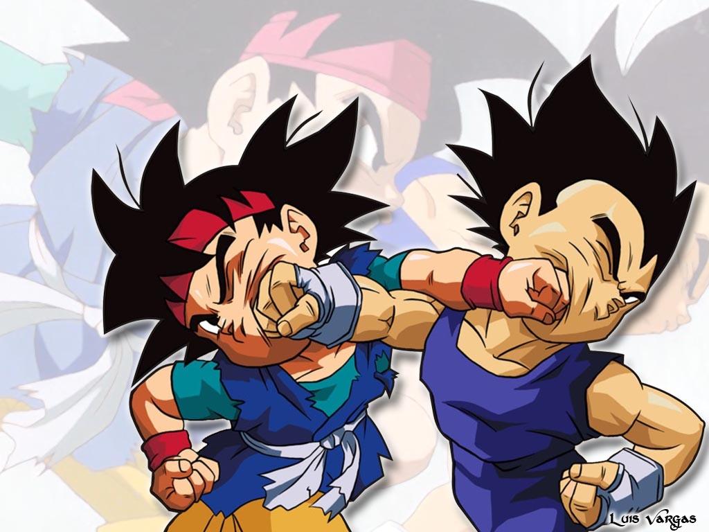 Goku VS Vegeta Wallpaper   Taringa 1024x768