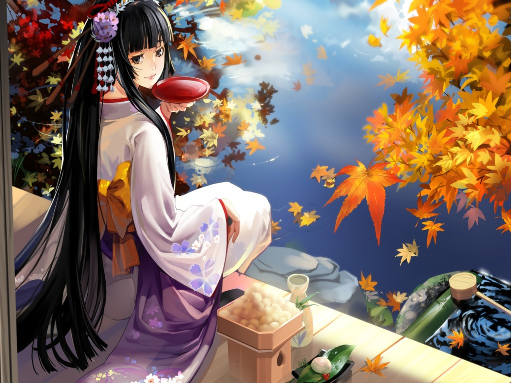 Anime geisha   BlindBandit92 Wallpaper 27249664 1024x768