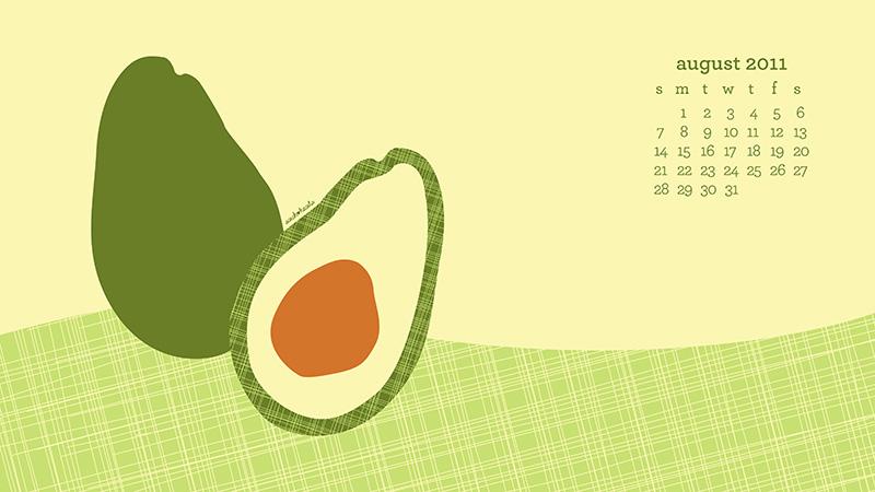 Sarah Hearts   August Desktop Wallpaper with Calendar 800x450