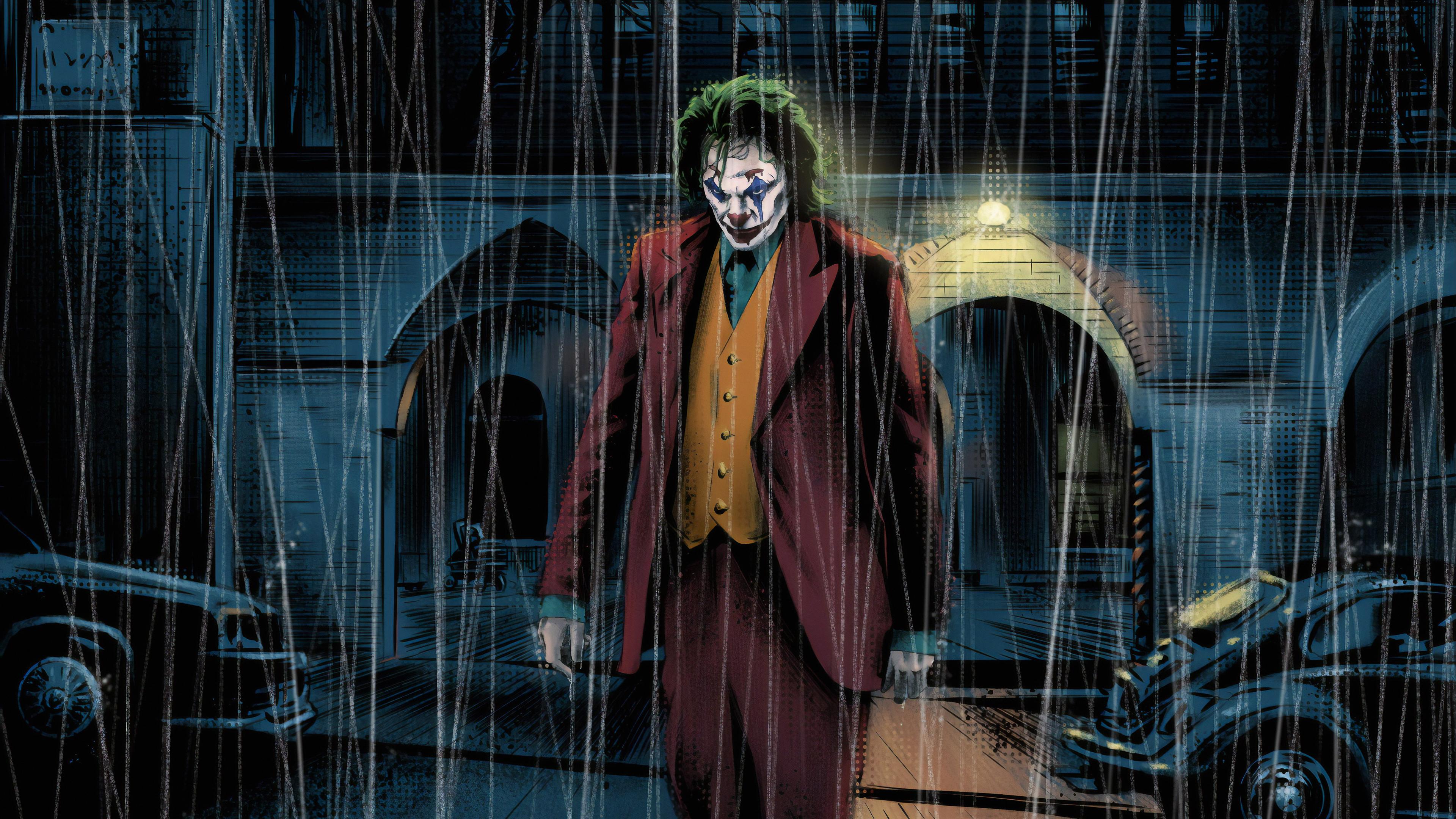 Joker Art Background Images AWB 3840x2160