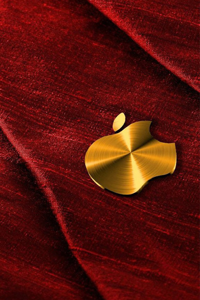 Gold Apple iPhone 4 Wallpaper 640x960 640x960