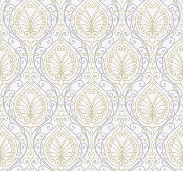 Silver Paisley Wallpaper   Wall Sticker Outlet 600x561