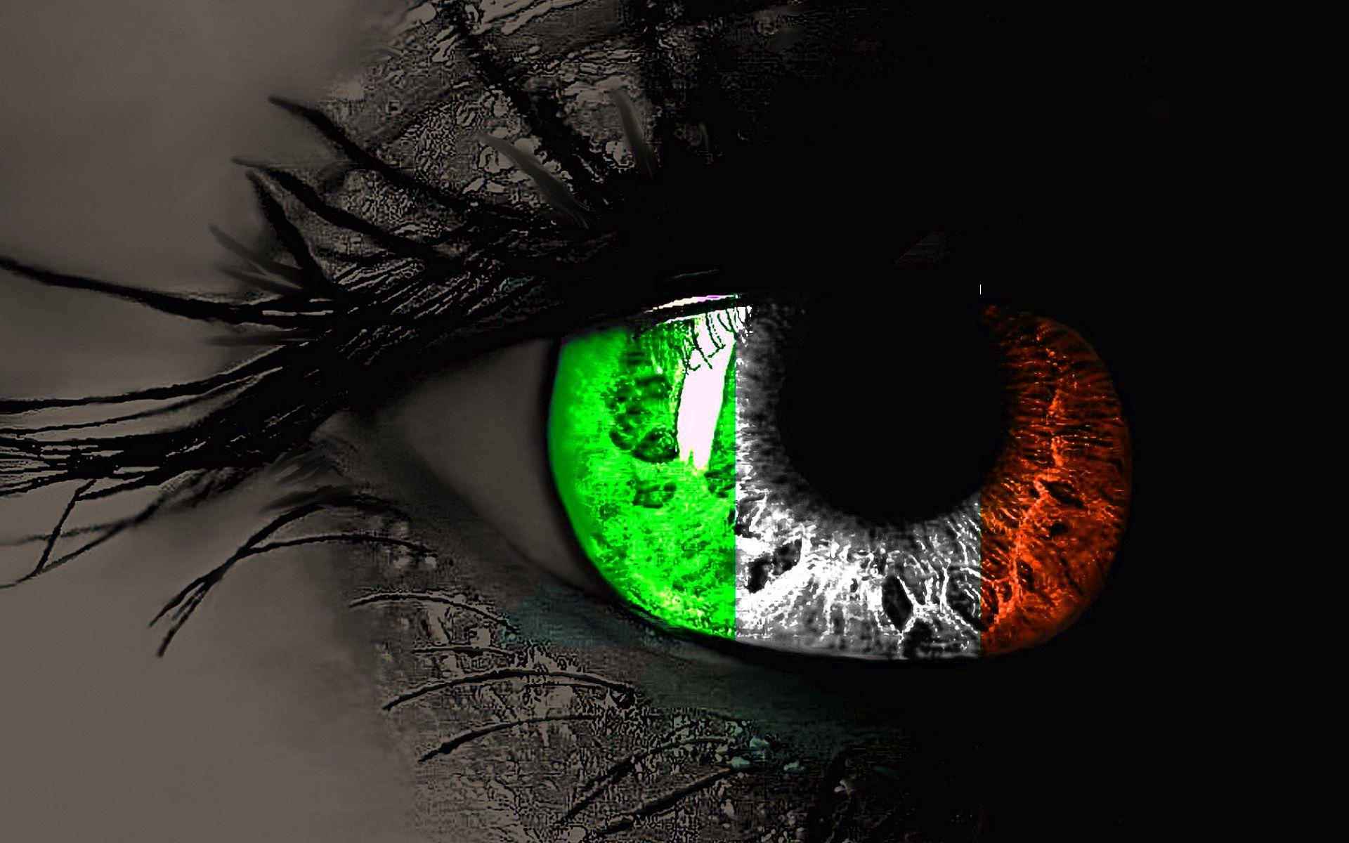 amazing irish flag in eyes hd wallpaper for desktop background 1920x1200