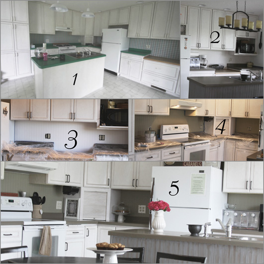 the process of adding our bead board wallpaper back splash 531x531