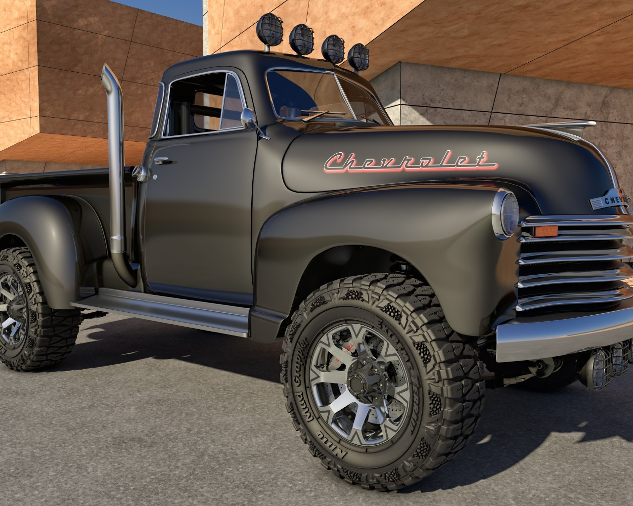 Wallpaper 1951 Chevy 4X4 Truck 4X4 Chevy Pickup Cars Machines 1280x1024