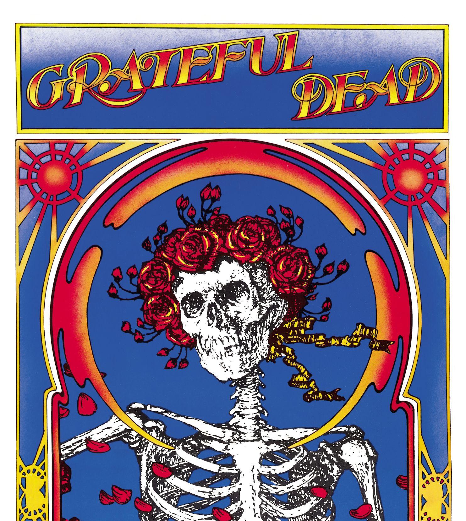 Grateful Dead Wallpapers Skeleton and Roses Wallpaper 1483x1658