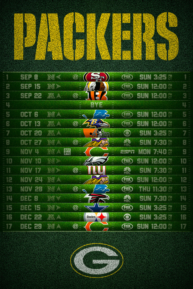 packers iphone wallpaper green bay packers schedule wallpaper wallpapersafari 12756
