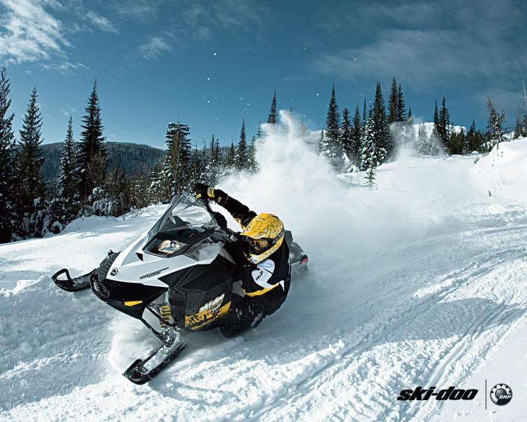 ski doo snowmobile wallpaper 750x600