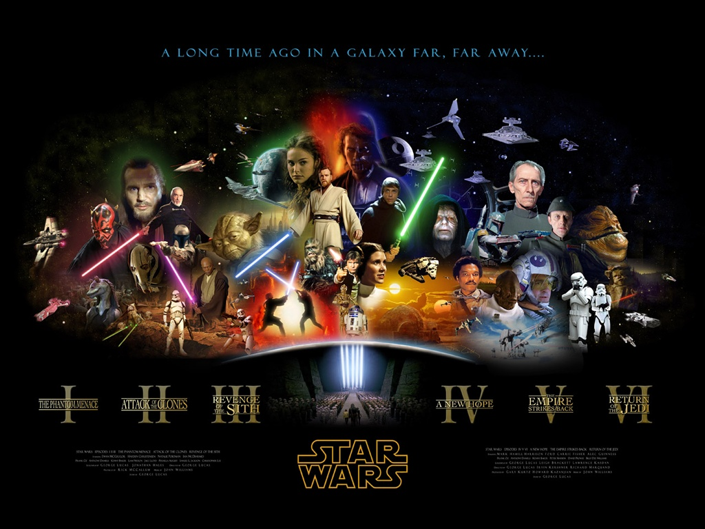 Star Wars desktop wallpaper 1024 x 768 pixels Old Version 1024x768