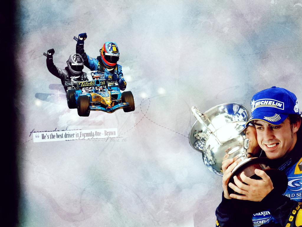 Maries Fan Art Portfilio   v5 Fernando Alonso 1024x768