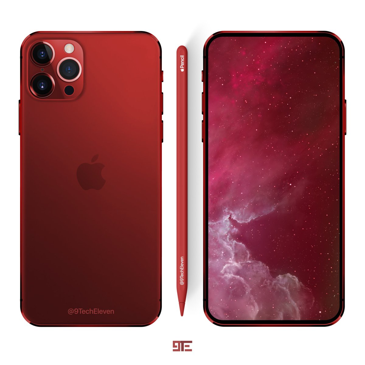 9TechEleven on Twitter iPhone 2020 Red Concept iPhone 5 modded 1200x1200