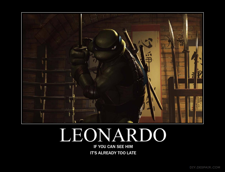 Teenage Mutant Ninja Turtles Leonardo Motivational 750x574
