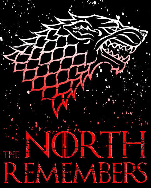 The North Remembers Game of Thrones Art Print by GreennBlack 484x600