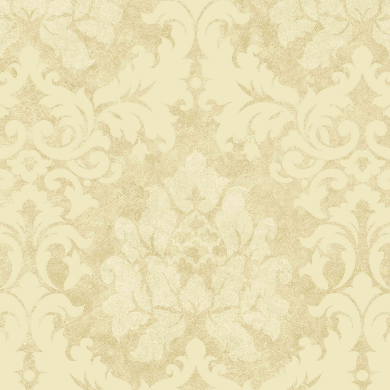 Beige Tan Damask Leaves Wallpaper Traditional Wallpaper   Dark Brown 1280x1280