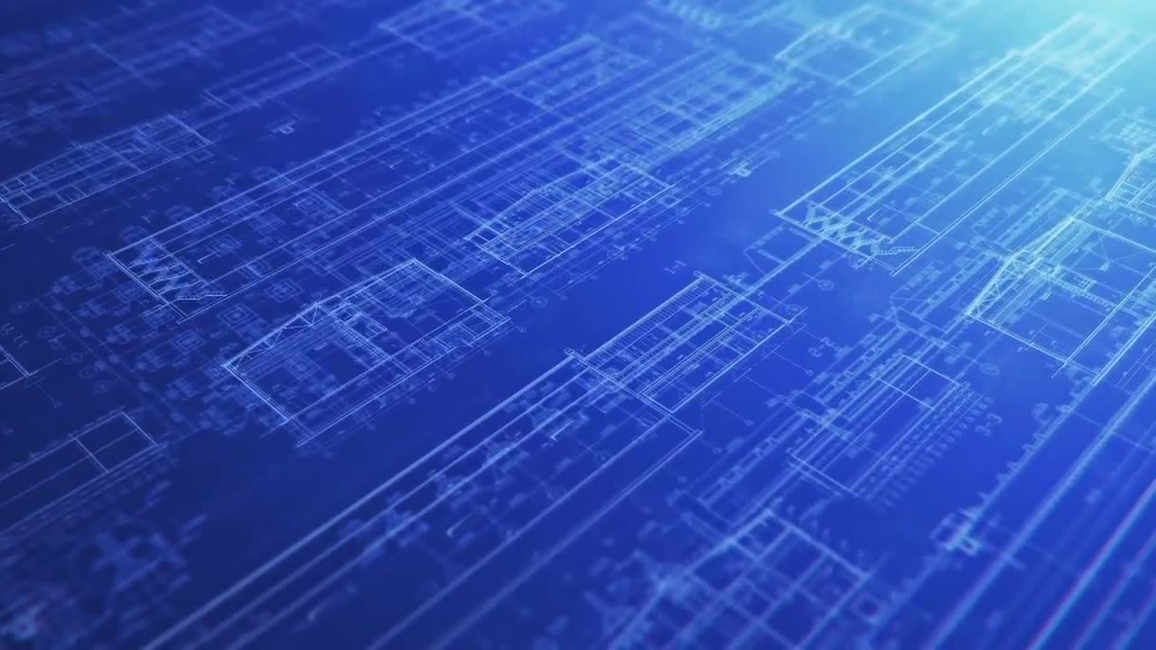 Construction Blueprint Backgrounds   Stock Motion Graphics 1280x720