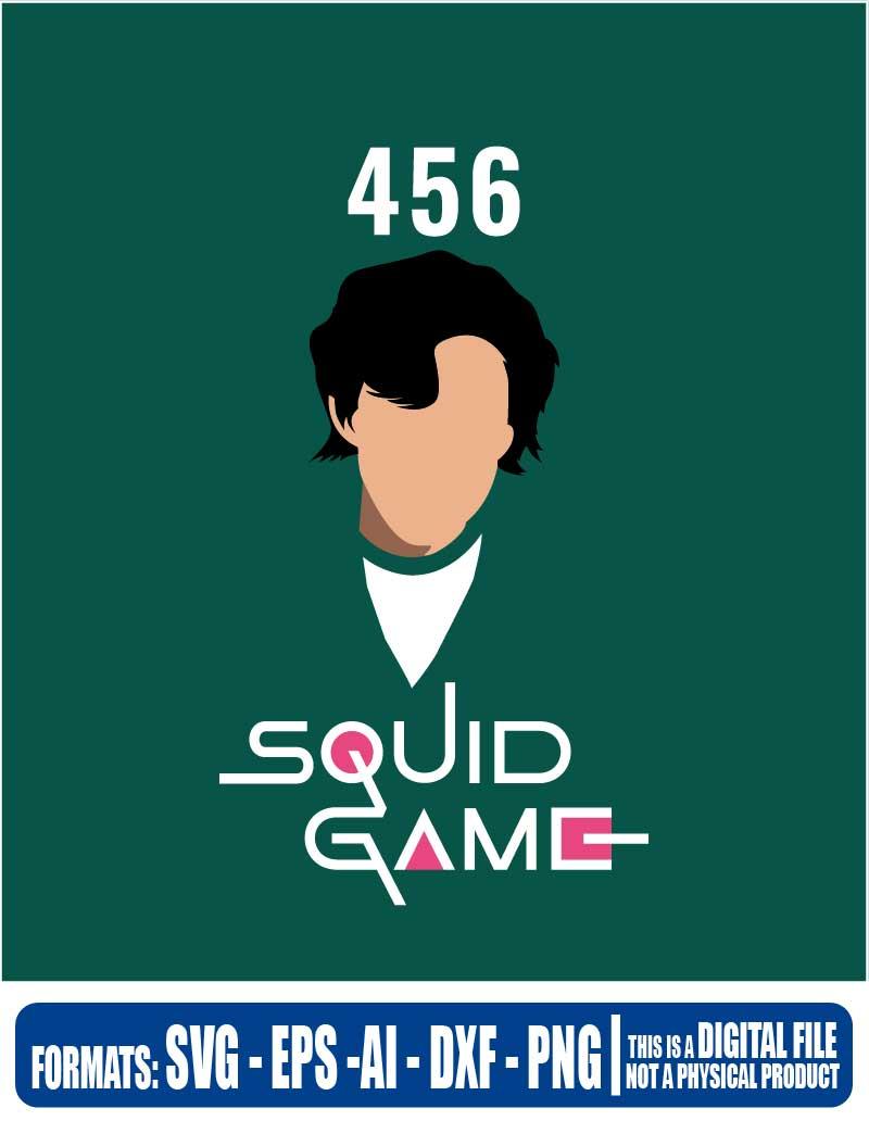 Squid game squid game 456 456 netflix cricut eps svg pdf 800x1032