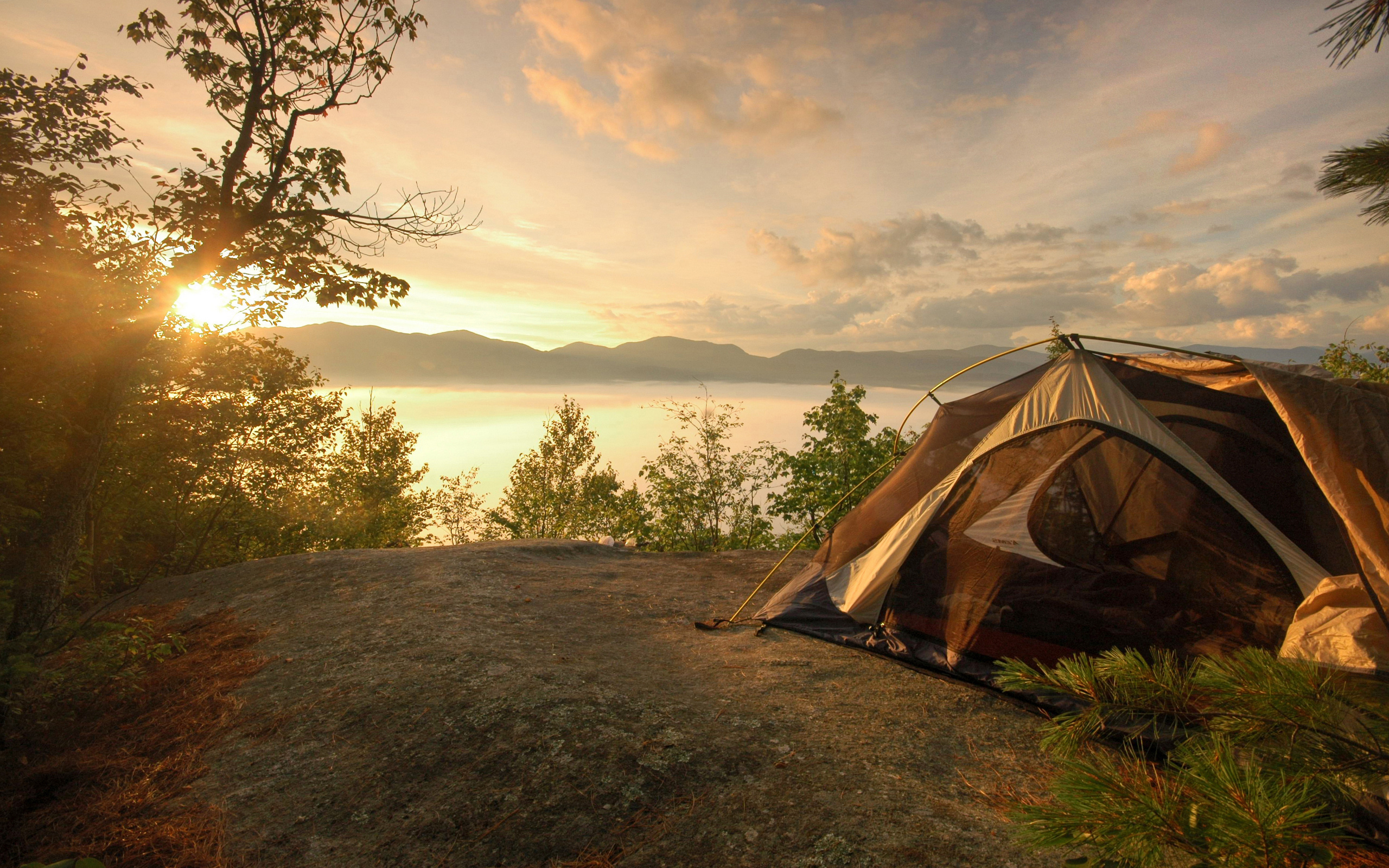 Camping Near The Lake Background Wallpaperjpg 2560x1600